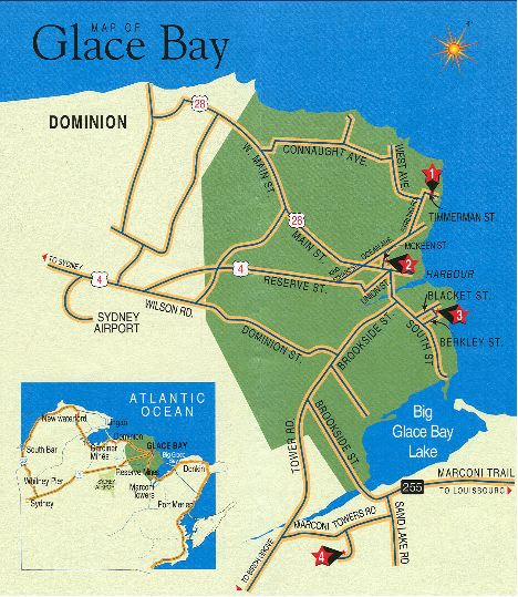 Map Of Glace Bay Nova Scotia Canada CBWHS   Marconi Centennial Activities Planned