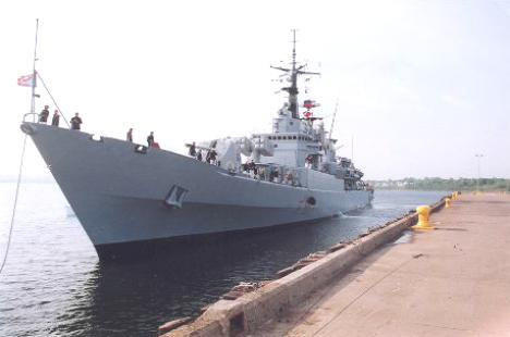Italian naval ship Zeffiro visited Sydney, Nova Scotia in 1995 to celebrate the centennial of Marconi's demonstration of wireless communications in 1895